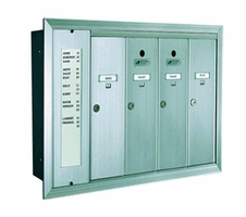 1255 Series Vertical Mailbox 4 Tenants 1 Integral Directory
