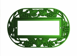 2x4  Green Grape Oval Frame, holds 5 tiles
