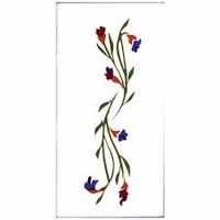 2x4 Tile Blue Freesia, &