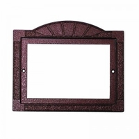 2x4 Tile Hammered Copper Contemporary Frame , holds 5 tiles