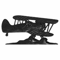 "30"" Traditional Directions AIRPLANE Weathervane in Black for Roof or Garden"