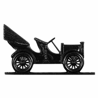 "30"" Traditional Directions ANTIQUE AUTO Weathervane in Black for Roof or Garden"