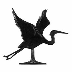 "30"" Traditional Directions BLUE HERON Weathervane in Black for Roof or Garden"