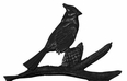 "30"" Traditional Directions CARDINAL Weathervane in Black for Roof or Garden"