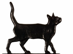 "30"" Traditional Directions CAT STANDING Weathervane in Black for Roof or Garden"