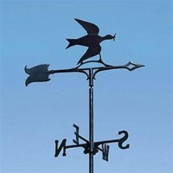 "30"" Traditional Directions DOVE OF PEACE Weathervane in Black for Roof or Garden"