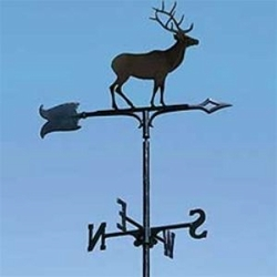 "30"" Traditional Directions ELK Weathervane in Black for Roof or Garden"