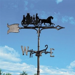 "30"" Traditional Directions FIRE WAGON Weathervane in Black for Roof or Garden"