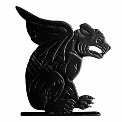 "30"" Traditional Directions GARGOYLE Weathervane in Black for Roof or Garden"