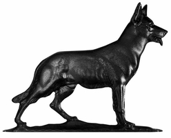 "30"" Traditional Directions GERMAN SHEPHARD Weathervane in Black for Roof or Garden"