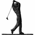 "30"" Traditional Directions GOLFER Weathervane in Black for Roof or Garden"
