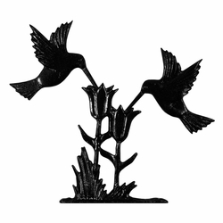 "30"" Traditional Directions HUMMINGBIRD Weathervane in Black for Roof or Garden"