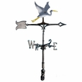 "30"" Traditional Directions Life-Like MultiColor BLUE HERON Weathervane for Roof or Garden"