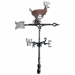 "30"" Traditional Directions Life-Like MultiColor BUCK Weathervane for Roof or Garden"