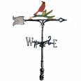 "30"" Traditional Directions Life-like MultiColor CARDINAL Weathervane for Roof or Garden"