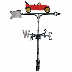 "30"" Traditional Directions Life-Like MultiColor CHEVY 1913 Weathervane for Roof or Garden"