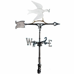 "30"" Traditional Directions Life-Like MultiColor DOVE OF PEACE Weathervane for Roof or Garden"