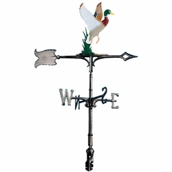 "30""  Traditional Directions Life-like MultiColor DUCK Weathervane for Roof or Garden"