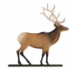 "30"" Traditional Directions Life-Like MultiColor ELK Weathervane for Roof or Garden"