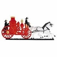 "30"" Traditional Directions Life-Like MultiColor FIRE WAGON Weathervane for Roof or Garden"