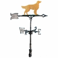 "30"" Traditional Directions Life-like MultiColor GOLDEN RETRIEVER Weathervane for Roof or Garden"