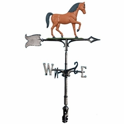 "30"" Traditional Directions Life-like MultiColor HORSE Weathervane for Roof or Garden"