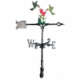 "30"" Traditional Directions Life-like MultiColor Hummingbirds Weathervane for Roof or Garden"