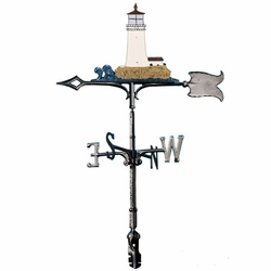 "30"" Traditional Directions Life-Like MultiColor Lighthouse Weathervane for Roof or Garden"