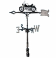 "30"" Traditional Directions Life-Like MultiColor MOTORCYCLE Weathervane for Roof or Garden"