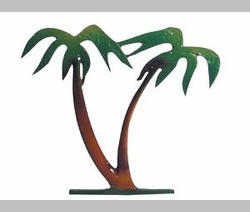 "30"" Traditional Directions Life-Like MultiColor PALM TREE Weathervane for Roof or Garden"
