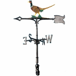 "30"" Traditional Directions Life-Like MultiColor PHEASANT Weathervane for Roof or Garden"