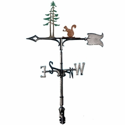"30"" Traditional Directions Life-Like MultiColor SQUIRREL & PINES Weathervane for Roof or Garden"