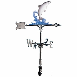 "30"" Traditional Directions Life-Like MultiColor TROUT Weathervane for Roof or Garden"