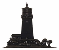 "30"" Traditional Directions LIGHTHOUSE Weathervane in Black for Roof or Garden"