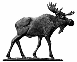 "30"" Traditional Directions MOOSE Weathervane in Black for Roof or Garden"