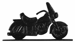 "30"" Traditional Directions MOTORCYCLE Weathervane in Black for Roof or Garden"