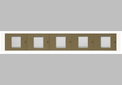 40 Name Capacity Directory - Top Mount to Horizontal Mailboxes Anodized Gold