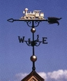 "46"" Traditional Directions Full-Bodied LOCOMOTIVE Weathervane in Metallic Finish"