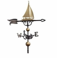 46'' Traditional Directions Full-Bodied SAILBOAT Weathervane in Metallic Finish