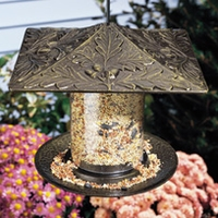 "6"" Oakleaf Tube Feeder - Oil Rub Bronze"