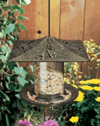 "6"" Trumpet Vine Tube Feeder - Copper Verdi"