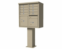 8 Door High Security Cluster Mailbox - Sandstone