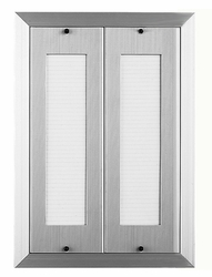 80 Name Capacity Directory for Vertical Mailboxes - Anodized Aluminum