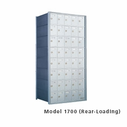 9 Doors High x 4 Doors (36 Tenants) 1700 Horizontal Mailbox Rear-Load Private Distribution
