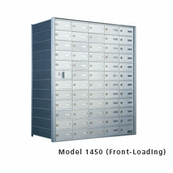 "9 Doors High x 5 Doors Wide (44 Tenants) (3"" H x 6 3/8"" W) 1450 Series Mailbox Front-Load Private Mailbox"