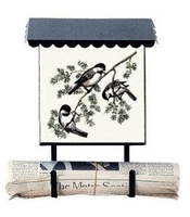 Bacova Gardens 10006 Chickadees Vertical Wall Mounted Mailbox