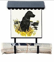 Bacova Gardens 10078 Sitting Black Lab Vertical Wall Mounted Mailbox