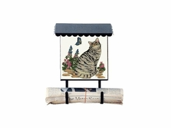Bacova Gardens 10164 Garden Cat Vertical Wall Mounted Mailbox