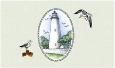 Bacova Gardens 10362 Ocracoke Lighthouse Residential Post Mount Mailbox