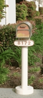 Basic Mailbox Post & Westchester Brass Mailbox with Locking Insert Option